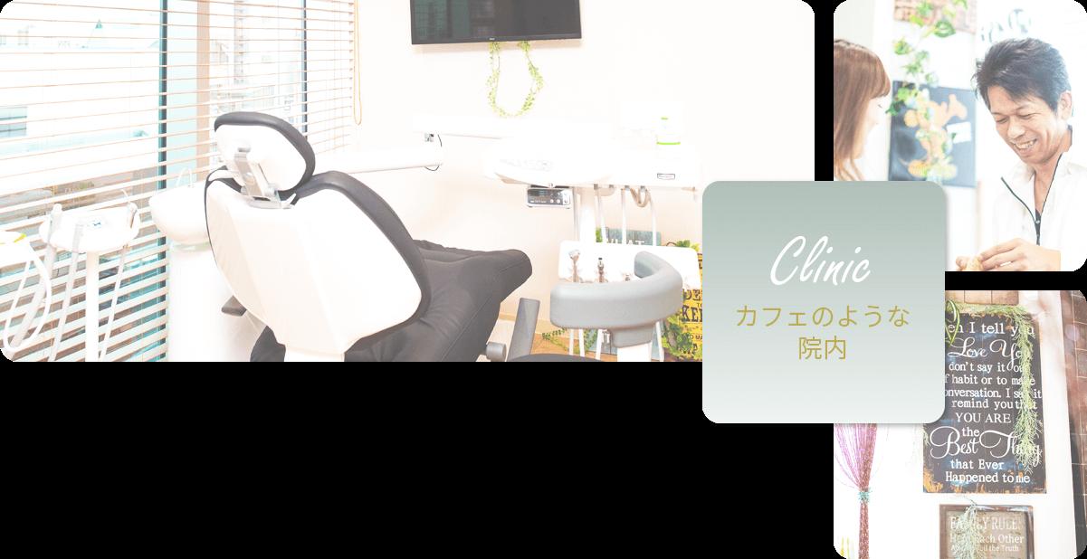 オーラルクリニーク自由が丘 歯科&矯正歯科はカフェのような院内です